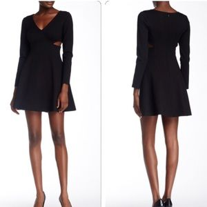 Halston Heritage long sleeve cut out dress
